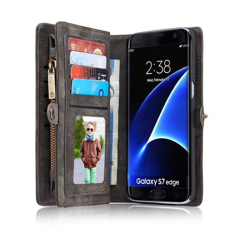 Samsung Galaxy S9 S9 S8 Plus S7 kənar üçün lüks flip dəri - Cib telefonu aksesuarları və hissələri - Fotoqrafiya 3