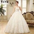 Envío libre yiiya 2015 hecho a mano barato vestidos de novia de la boda vestido de boda de la princesa vestido blanco barato vestidos de novia xxn085