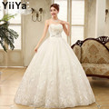 Free shipping YiiYa 2015 cheap handmade bridal wedding gowns frock princess wedding dress cheap white Vestidos De Novia XXN085