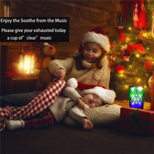 Bluetooth Speakers Wireless LED Touch Control Colorful Night Light Built-in Mic, AUX and Hands Free Speaker for Home and Party