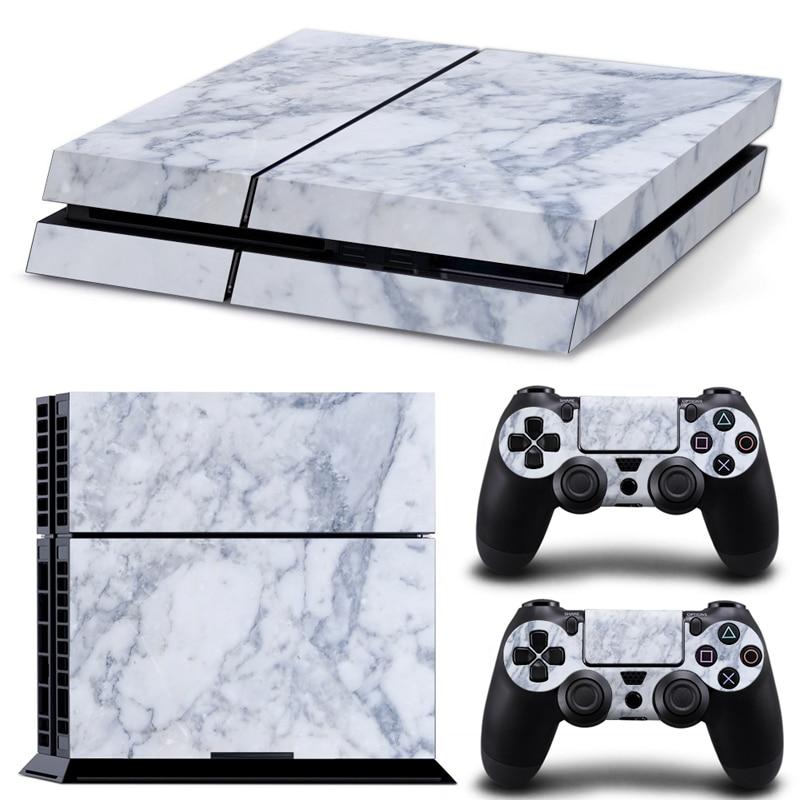 Белый простой стиль наклейку кожи для PS4 консоли и 2 контроллера кожи наклейка наклейки обложки # TN-PS4-2038