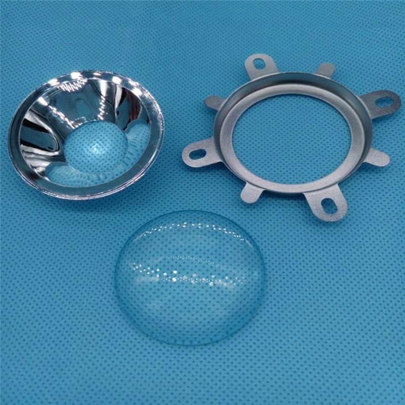 1 Set 30W-100W LED Reflector Cup + 44mm Convex Lens floodlight Searchlight
