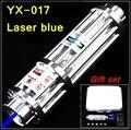 [ReadStar] RedStar YX-017 Alta 5 W Azul laser pointer Laser pen queimar jogo de solda com teste padrão de estrela cap laser canhão de laser arma