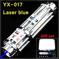 [ReadStar]RedStar YX-017 High 5W Blue laser pointer Laser pen burn match solder with star pattern cap laser cannon laser gun