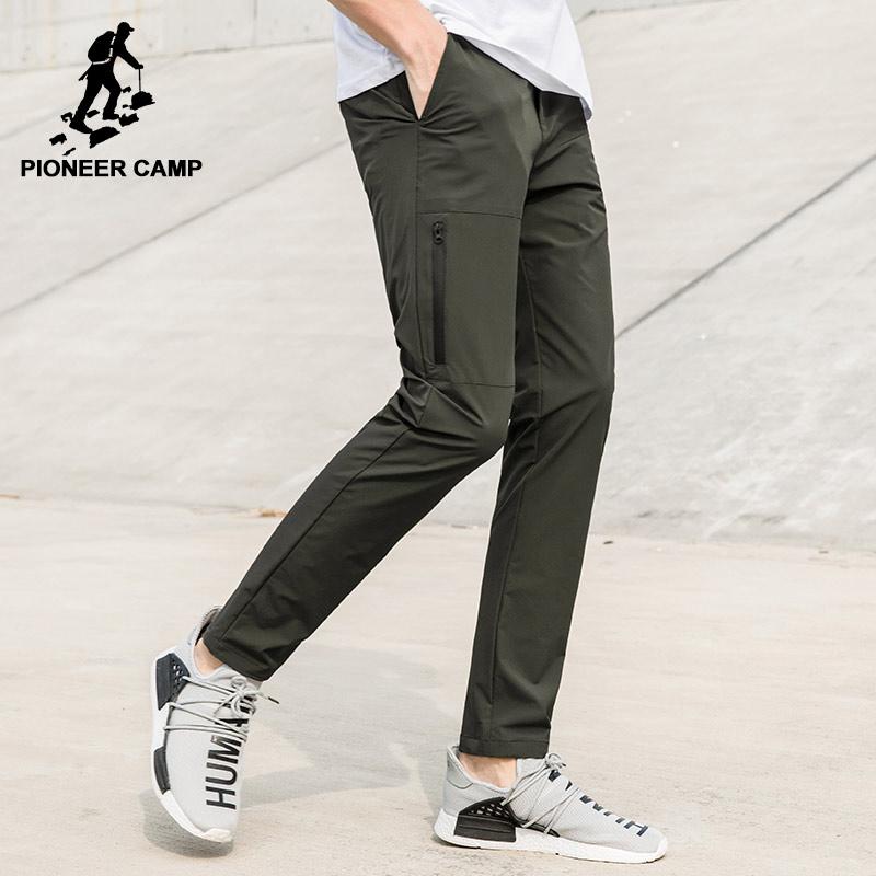 Пионерский лагерь новый быстрое высыхание Штаны брендовая мужская одежда Водонепроницаемые брюки стретч мужской качество темно-синие Army Green axx705098