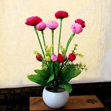 XXXG Artificial flower flower pot placed flowers set small home decor bonsai living room TV cabinet.