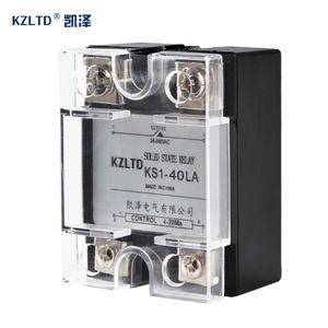 Image 2 - SSR 40LA Voltage Regulator Solid State 4 20MA to 28 280V AC Voltage Relay SSR 40A w/Cover relais KS1 40LA Quality Guarantee