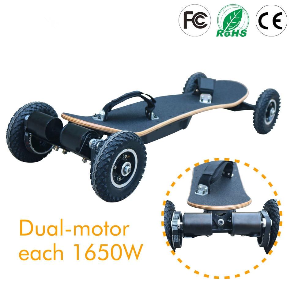 4 wheels electric skateboard mountain board off road. Black Bedroom Furniture Sets. Home Design Ideas