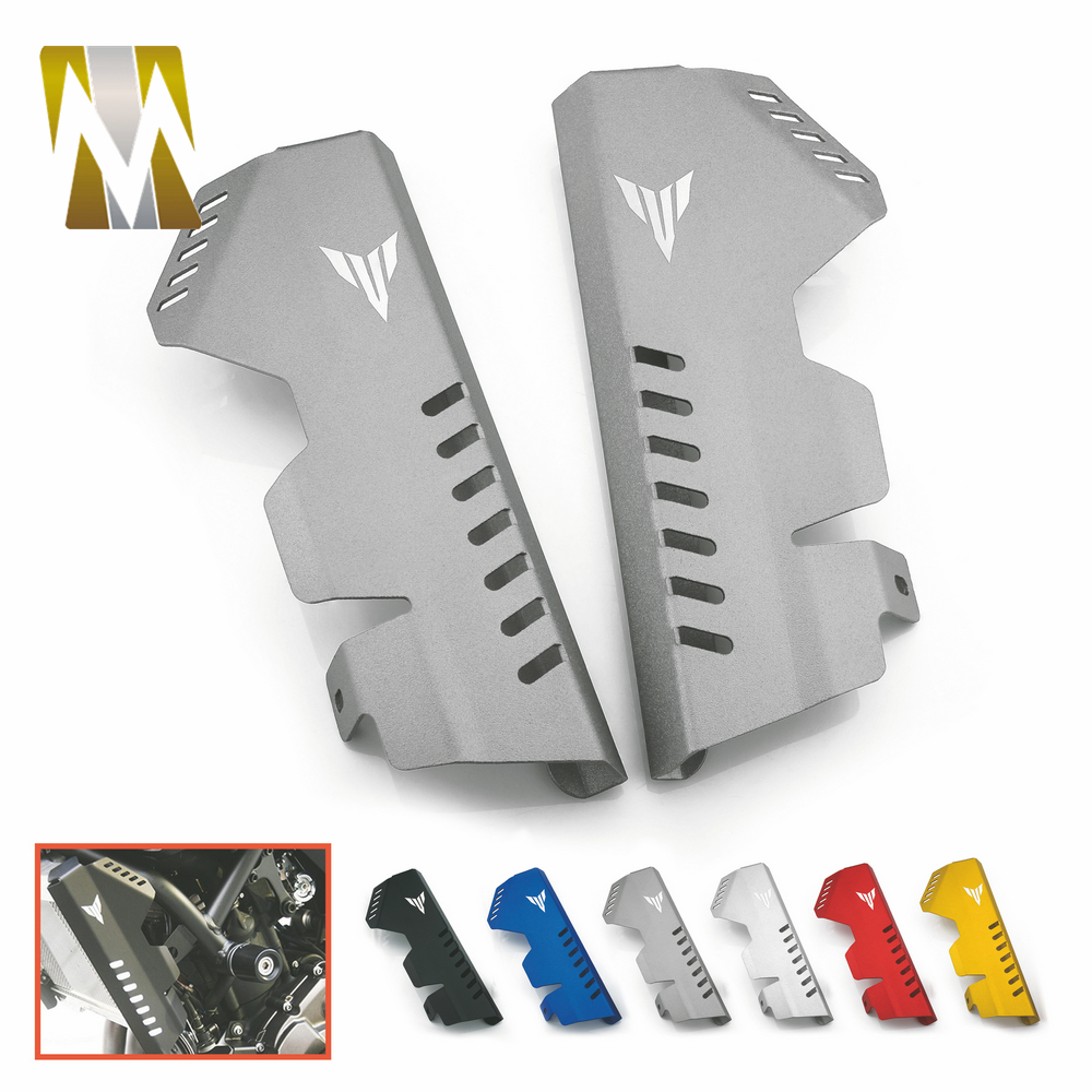 цены Motorcycle for MT 07 MT-07 FZ 07 FZ-07 Radiator Side Cover Protector For Yamaha MT07 FZ07 2014-2017 Motorbikes Accessories