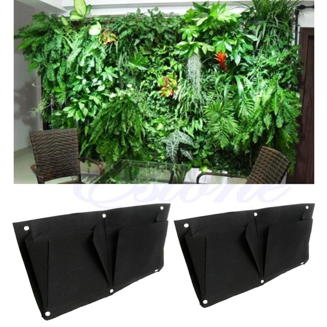 Outdoor Wall Hanging Planters 2 pocket transversal indoor outdoor wall balcony garden hanging 2 pocket transversal indoor outdoor wall balcony garden hanging planter bag workwithnaturefo