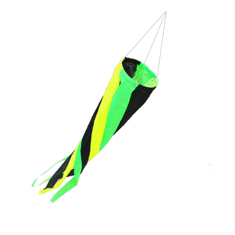Professional Kite Accessories  3D Green Windsocks  For Car/ Triangle Kites Kids Gift