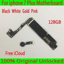 Для Apple iPhone 7 Plus материнская плата 128 ГБ с Touch ID 100% оригинал открыл для Apple iPhone 7 Plus материнскую плату белый золотистый и черный розовый