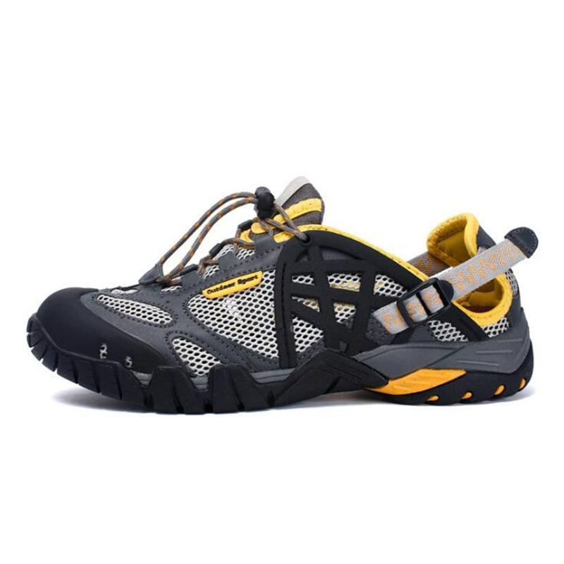 Для Мужчин's Быстросохнущие кроссовки открытый Пеший Туризм обувь брендовые летние сандалии кроссовки для Для мужчин Qluick сушки Быстросохну...