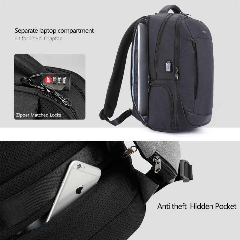"""Nova chegada do sexo masculino 15.6 """"mochilas para computador portátil para homens tigernu anti roubo moda escola bagpack feminino sólidos sacos"""