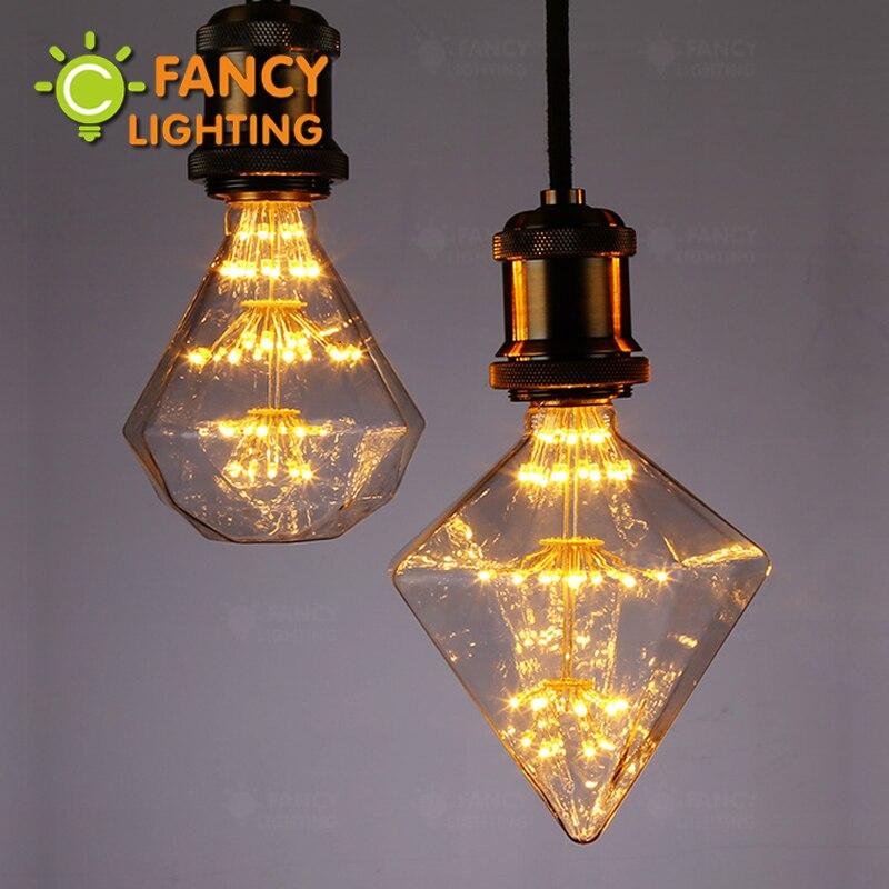 Led lumière ampoule G95/G125 Diamant E27 110 v 220 v Dimmable décoratif led lampe pour la maison/salon chambre/chambre décor 3 w lamparas led