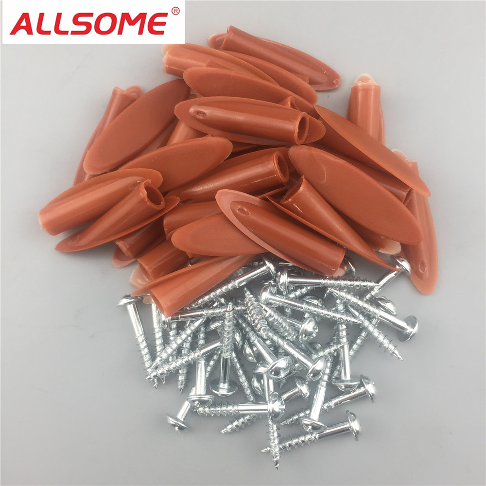 ALLSOME 200pc Pocket Hole Screws Plugs Kit For Woodworking Doweling Joinery Screw Clamping Jig System Wood Work Drilling Tools