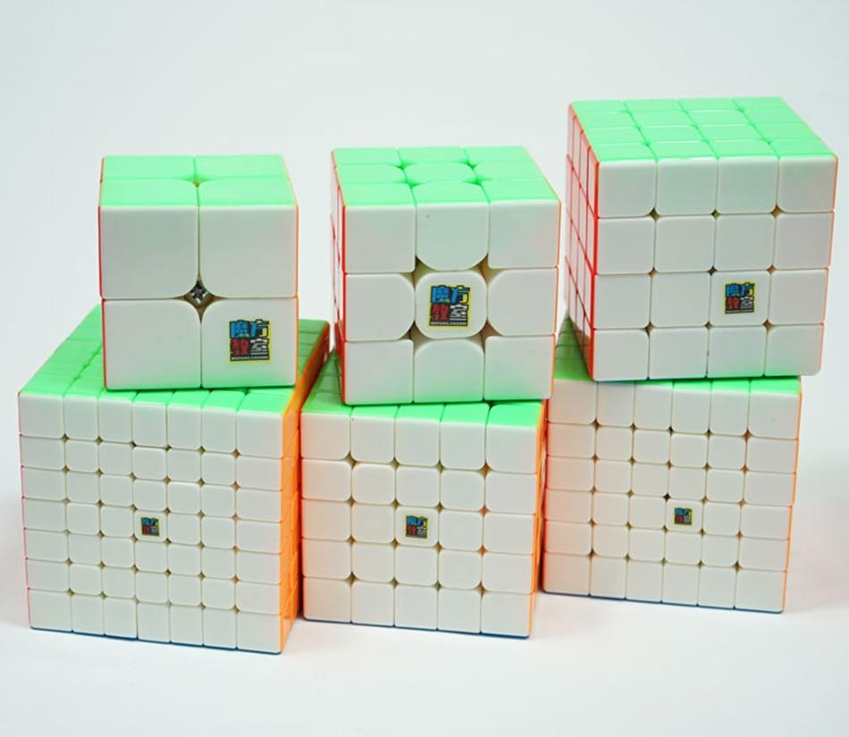 MoYu Speed Cube Bundle Moyu Mofang Jiaoshi MF2S MF3S MF4S MF5S MF6 MF7S ensemble de Cube magique sans colle 6 en 1 avec boîte-cadeau - 2