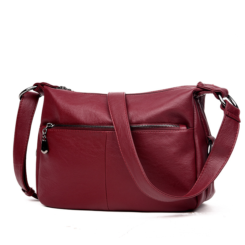 High Quality Fashion Women Bag Messenger Bags for Women Female Leather Handbag Vintage Ladies Crossbody Shoulder Bags Sac A Main cute beads cherry shape pendant necklace for women