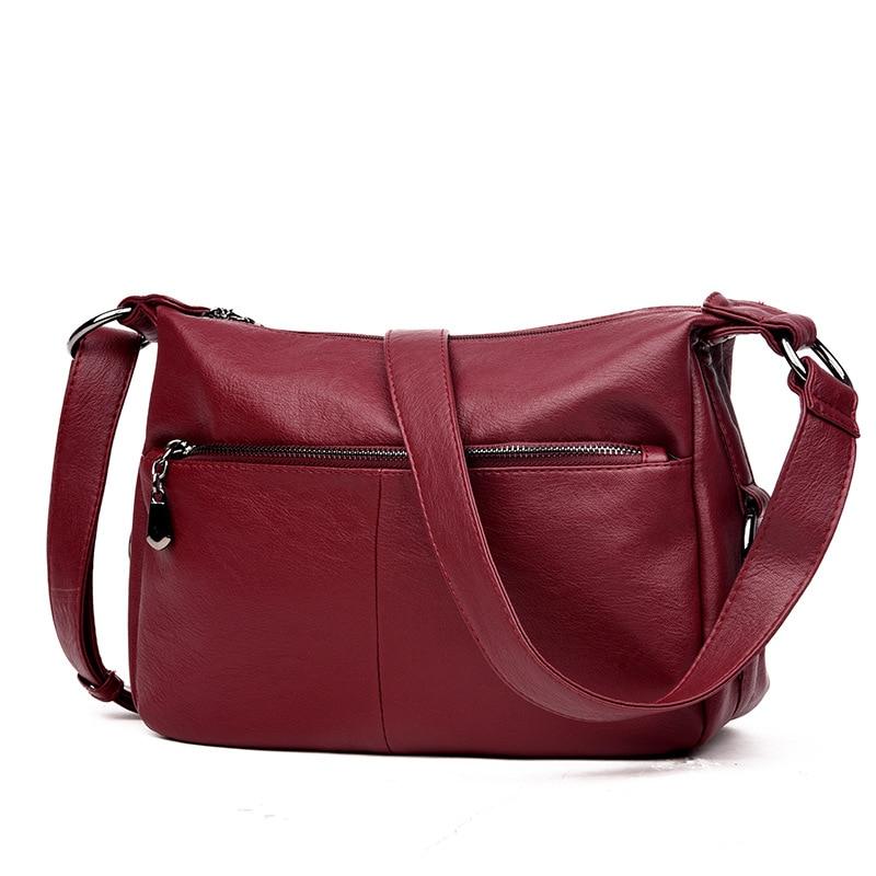 High Quality Fashion Women Bag Messenger Bags for Women Female Leather Handbag Vintage Ladies Crossbody Shoulder Bags Sac A Main