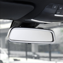 for Mercedes Benz GLC 2016-2018 ABS Chrome car front Interior View Mirror Decoration strip cover trim auto accessories styling for mercedes benz glc 2016 1pc abs chrome glc260 frame headlight adjustment trim cover moldings car styling accessories