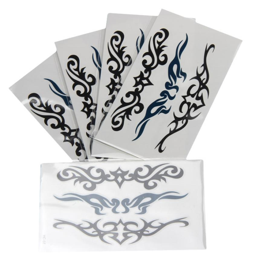 1PC Waterproof Tattoo Stickers Temporary Creative Fashion Design Black Waterproof Tattoo Transfer Paper 2MY8