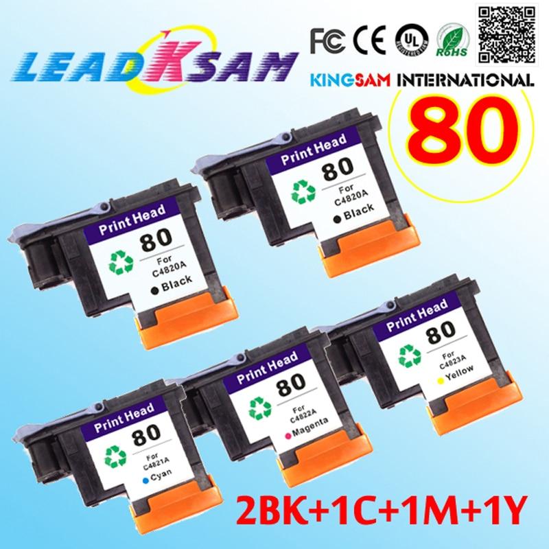 4PK COMBO Reman HP 80 Print Head C4820A C4821A C4822A C4823A printhead