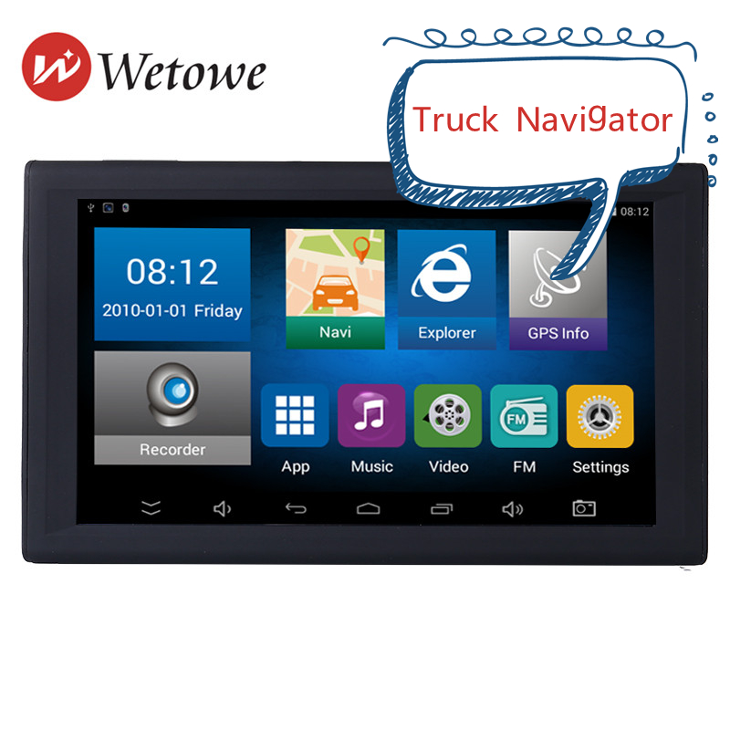 9 Inch New Portable GPS Truck Navigator DVR GPS Tablet Navigation System AV-IN Support Reversing Camera Free Map Internet Access(China)