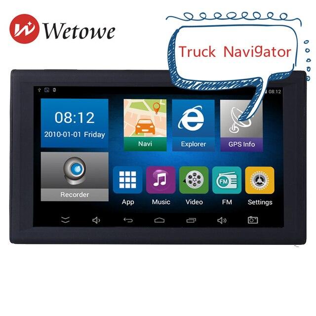 9 inch new portable GPS truck navigator DVR GPS tablet navigation system AV-IN support reversing camera free map Internet access