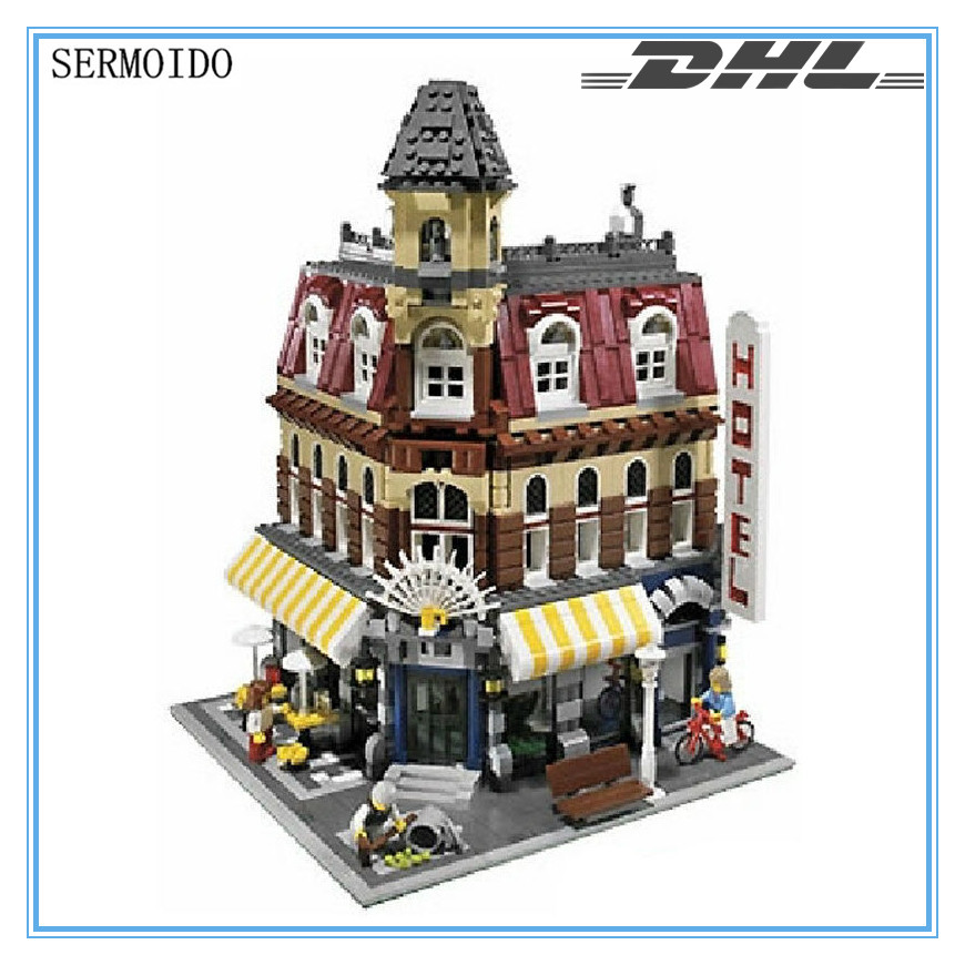 2017 New 2133Pcs LEPIN 15002 Creators Cafe Corner Model Building Kits Blocks Kid Brick Toy Gift Compatible With 10182 B214 lepin 16014 1230pcs space shuttle expedition model building kits set blocks bricks compatible with lego gift kid children toy