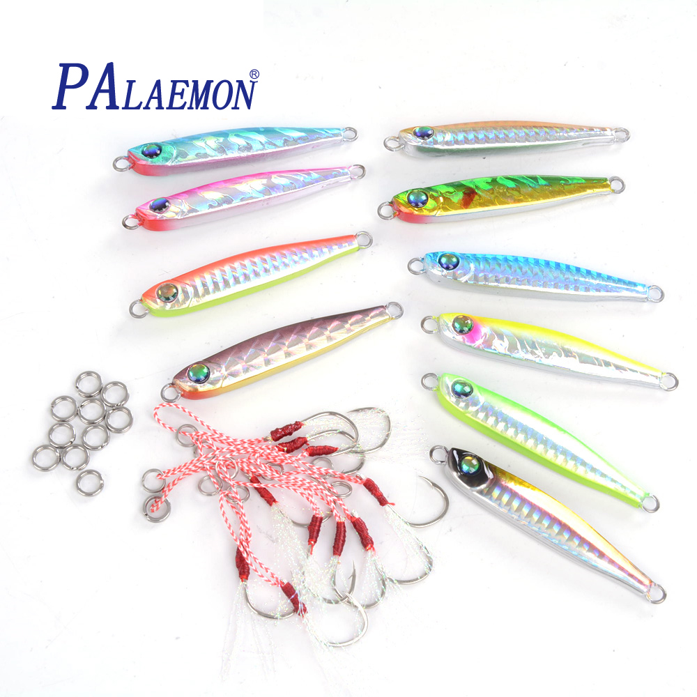PALAEMON Bait Boat Fishing Jig Super Fishing Lures 33g 5/10 Pieces Sequin knife jigging lure wobbler Hard Bait mastering set