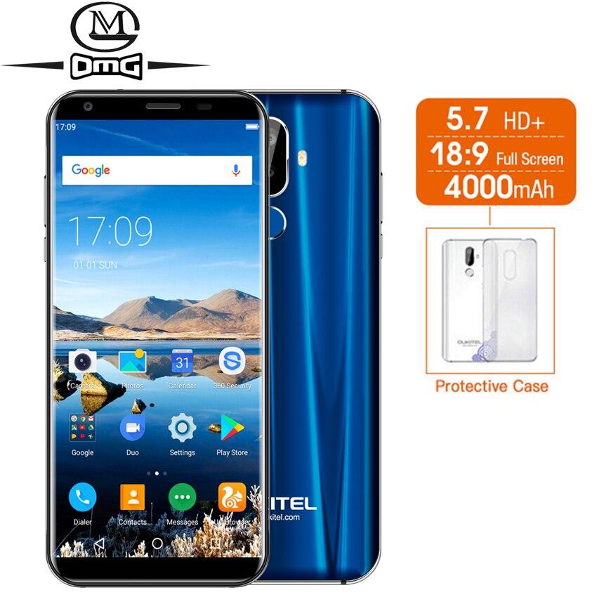 "Oukitel K5 18:9 HD Display 5.7"" 4G Smartphone 4000mAh Android 7.0 MT6737T Quad Core 2G RAM 16G ROM Fingerprint Mobile cell phone"