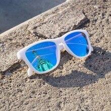 Dokly Nueva moda Gafas de Sol Hombres y Mujeres Diseño Unisex blanco azul marco de la lente gafas de Sol de Espejo Oculos Gafas de Sol Gafas De Sol