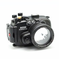 EACHSHOT 40m 130ft Waterproof Underwater Camera Housing Case For Sony A6300 Can Be Used With 16