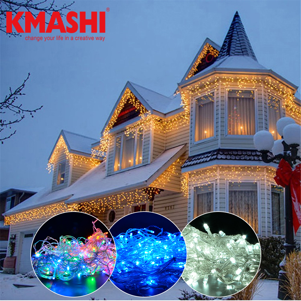 Kmashi Holiday Lights 5M 216LED Waterproof String Fairy