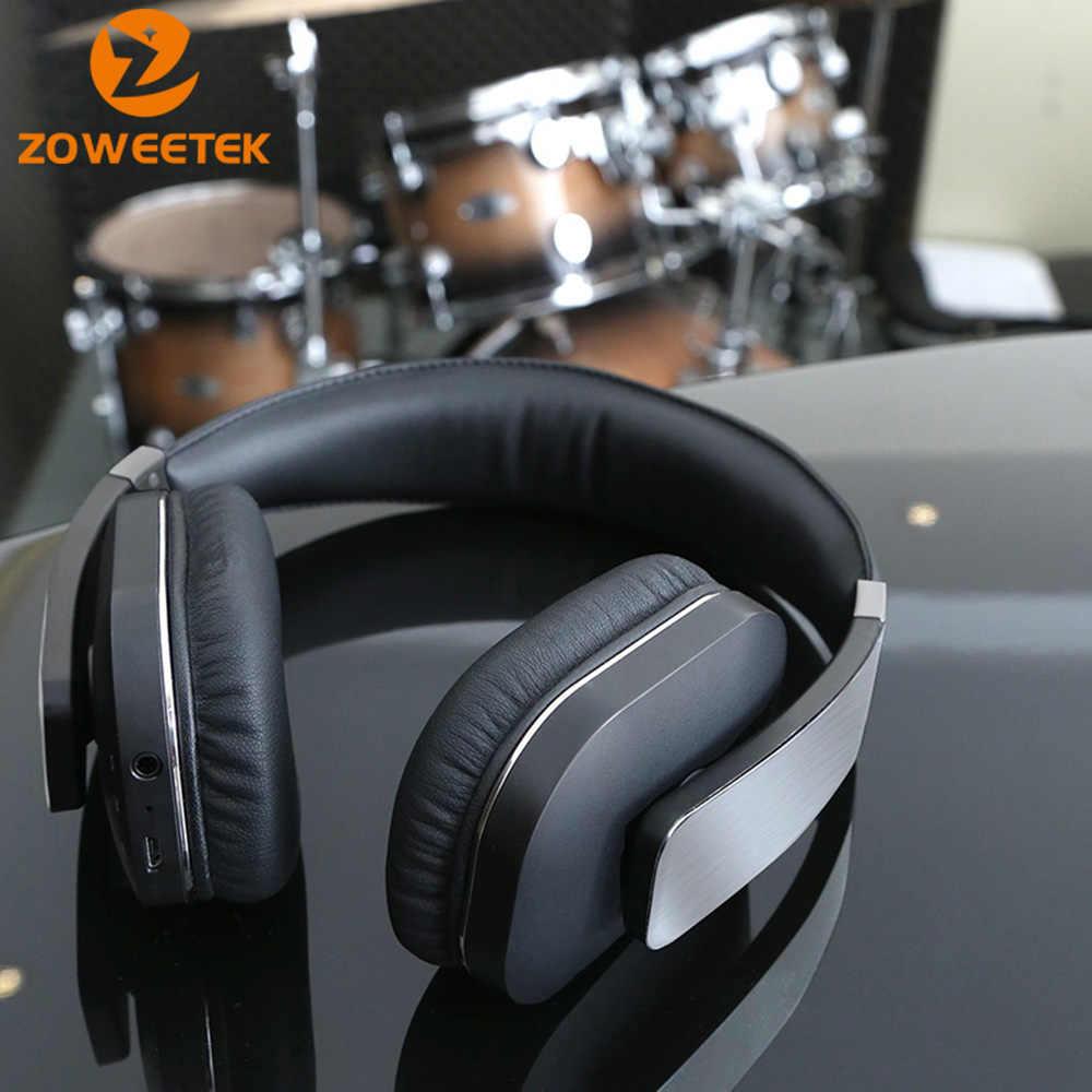 Profesjonalne Zoweetek BT 4.0 Bluetooth słuchawki Stereo Bass bezprzewodowe słuchawki sportowe ponad-zestaw słuchawkowy mikrofonem dla iPhone Xiaomi LG
