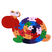 Letters and Numbers Educational Wooden Puzzle Toy For Children Wood Material Puzzle Train Vehicle Toy Kids Christmas Gift