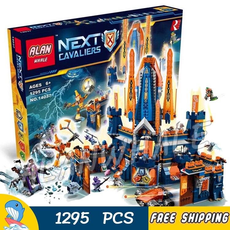 1295 шт. Рыцари Найтон замок базовая модель строительные блоки 10706 Детский праздник игрушки игры Nexus Кирпичи совместимы с Lego