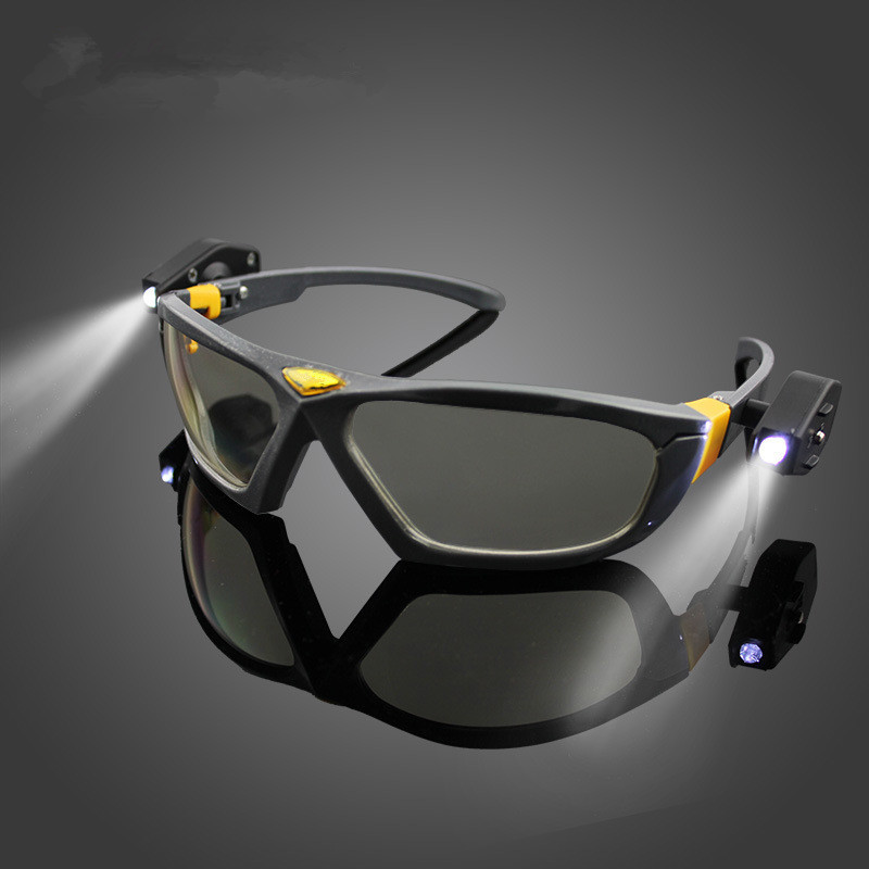 Bright LED Lights  Safety Goggles Night Reading Eye Glasses for Safe Industrial Work Car Repair Outdoor Sports Riding  Lighting нож нескладной ножемир носорог общая длина 26 см с ножнами h 178
