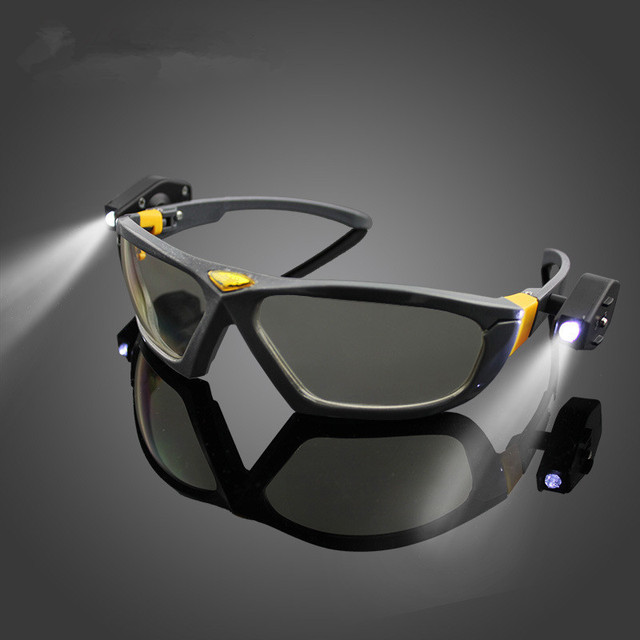 Brilhantes Luzes LED Noite Óculos de Segurança Óculos De Leitura Dos Olhos  para Segurança do Trabalho 07ba09f9d1