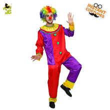 QLQ Circus Costume Performance Clothing Party Dress Halloween Unisex Cosplay Clown
