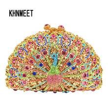 Роскошные вечерние сумочки с кристаллами в виде животных, вечерние сумочки с павлином и бриллиантами, женские сумочки на цепочке, свадебные сумочки, дневные клатчи