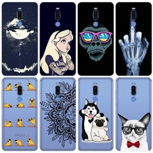 Silicone for Meizu 16 15 Plus Lite Pro 7 Note 8 V8 X8 Case TPU Cover Soft Fitted Half Phone Cases Cat Dog Rabbit AnkinPro