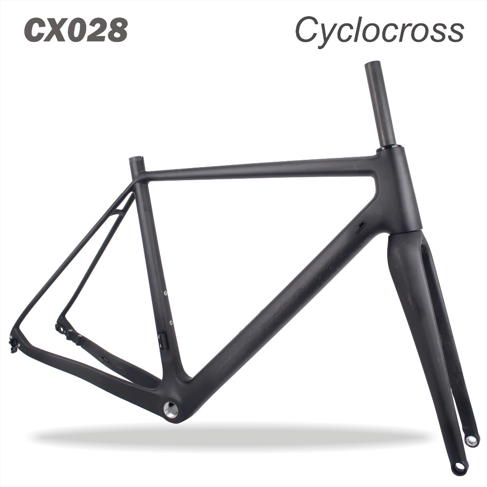 2018 MIRACLE Bikes Thru Axle 700x38C Carbon Cyclocross Frame Di2&Mechanical 135/142mm Disc Cyclocross Carbon Bike Frame