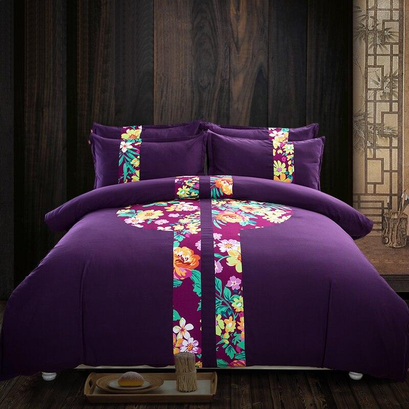 Online Get Cheap Dark Purple Comforter Aliexpress Com