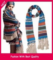 Wholesale Price And Freeshipping Yarn Bohemian Charming Knitting Scarf 270 38cm Best Quality 380g