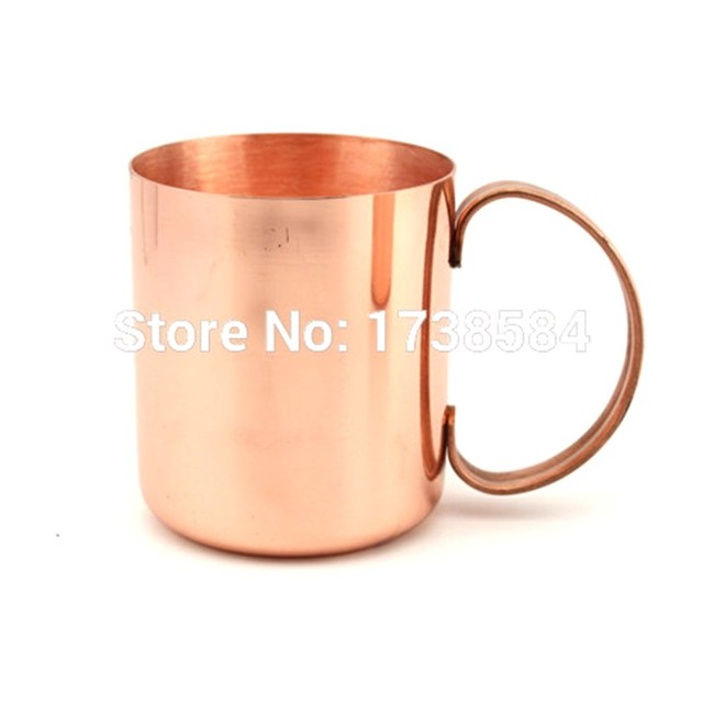 Awesome Pure Copper Cup Bar Wares Tumbler All Copper Cup Coffee Wine Glass Travel  Cup With Handle