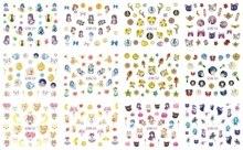 12 ورقة/مجموعة مسمار BN457 468 الكرتون بحار القمر مسمار الفن ملصق مائي مائي لمسمار المياه (12 تصاميم في 1)