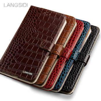 Wangcangli brand phone case Crocodile tabby fold deduction phone case For iPhone 7 Plus cell phone package All handmade custom