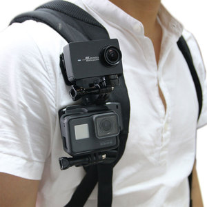 Image 2 - Quick Release Backpack Belt Hat Clip Mount Adapter for Sony AS50 AS300R AZ1 X3000R/Gopro 7 5 /SJcam/Xiaoyi 4k for iPhone huawei