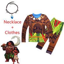 45d4818f6c77f Maui Costume pour bébé garçon ensemble vêtements Moana Vaiana Cosplay hiver enfant  Boutique T Shirt pantalon